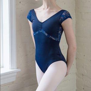Class In Dance Shop Ballet Leotard Blue Lace